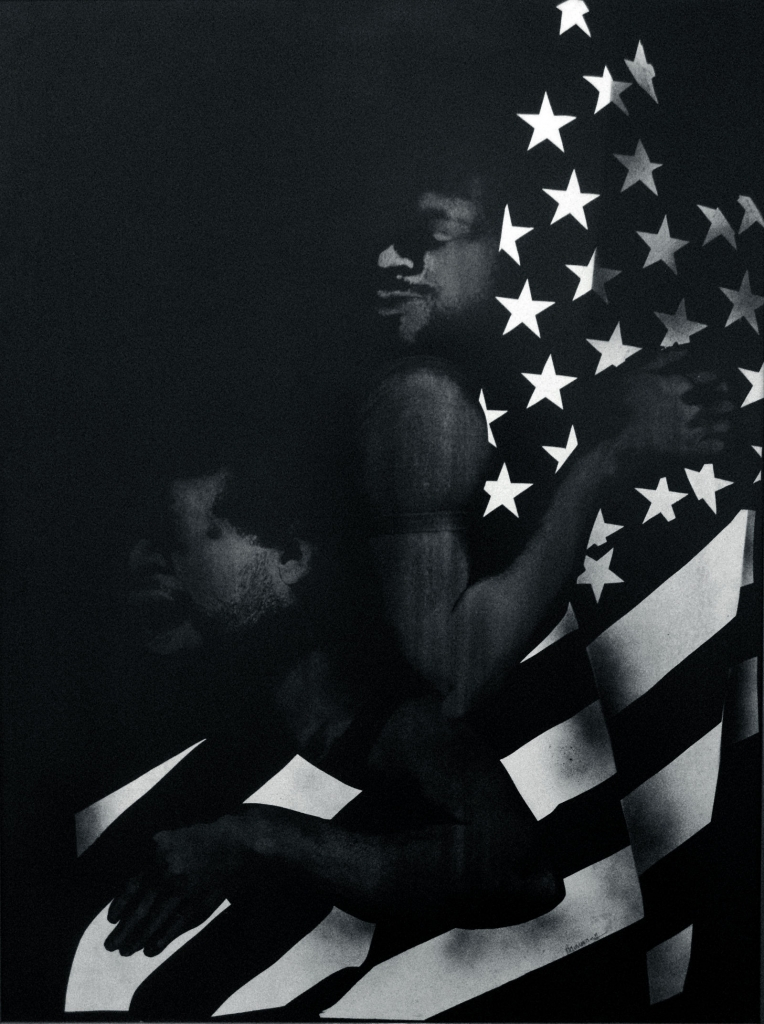 David-Hammons_Black-First-America-Second_1970-764x1024